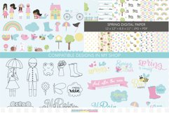 Girl Clipart coloring pages in PNG and PDF format Product Image 4