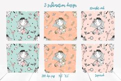 Girl with dog sublimation design. Skinny tumbler png Product Image 2