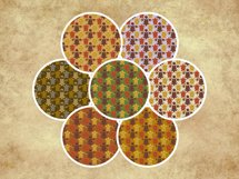 Sea Turtle and Seashells Fall Color Palette Seamless Pattern Product Image 2