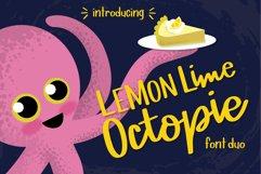 Lemon Lime Octopie Font Duo Product Image 1