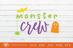 Monster Crew Halloween Svg Cut File Bat Spider Ghost Clipart Product Image 1