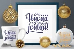 Finnish Christmas in different languages Hyvaa joulua svg Product Image 4
