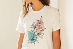 Flowers sublimation, hand drawn lillies PNG Product Image 5