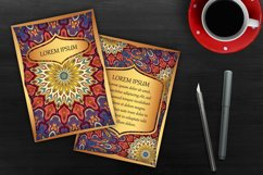 Mandala ethnic cards vector templates set. Product Image 4