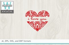 Valentines SVG - Heart Product Image 2