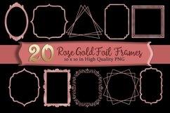 Rose Gold Frames Clipart Set of 20 Product Image 1
