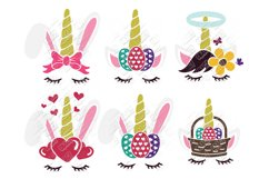 Unicorn Easter Bunny SVG in SVG, DXF, EPS, PNG, JPG Product Image 1