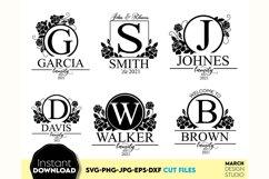 Monogram SVG File, Family Monogram SVG, Floral monogram SVG Product Image 1