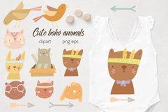 Boho baby animals. Animal faces. Sublimation baby animals Product Image 1