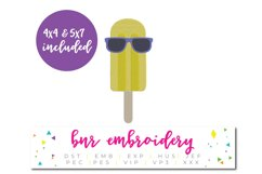 Popsicle Machine Embroidery Design, Summer Embroidery Product Image 1