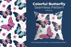 Colorful Butterfly - Seamless Pattern Product Image 1