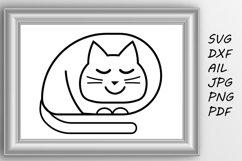 Cat svg Cute cat svg Product Image 1