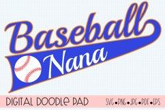 Baseball Nana SVG | Silhouette and Cricut Cut File Product Image 1