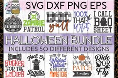 Huge Halloween Bundle of 50 SVG DXF PNG EPS Cutting Files Product Image 1