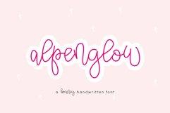 Alpenglow - Bouncy Script Font Product Image 1