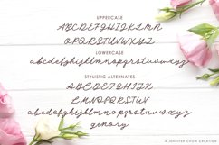 Web Font Angel Rose   An Elegant Monoline Font Product Image 2