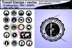 Travel Stamps vector / Travel Stamp silhouette / vector Product Image 1