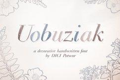 Uobuziak font Product Image 1