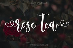 Rose Tea Script Font with swashes Product Image 1