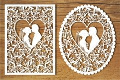 Wedding cards 3 SVG files for Silhouette and Cricut. Product Image 1