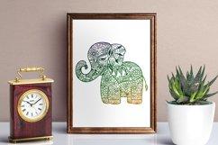 Baby Elephant SVG - Floral Mandala Elephant SVG Product Image 2