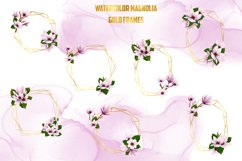 Watercolor Gold Magnolia Frames Product Image 2