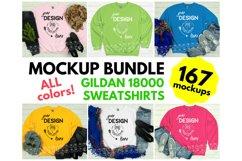 Gildan 18000 Sweatshirt Mockup Bundle - All Colors! Product Image 1
