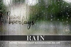 Rain Overlays, Photo Effect Rain, Rain Photo Overlays Product Image 1