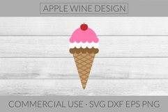 Ice Cream Cone SVG DXF PNG EPS Cutting File Product Image 1