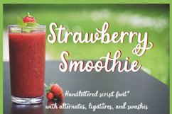 Strawberry Smoothie- A handlettered script font Product Image 12