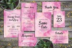 Abstract Pink And Vanilla Painting Wedding Invitation Set Product Image 1