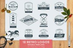 12 vintage template logos set Product Image 1