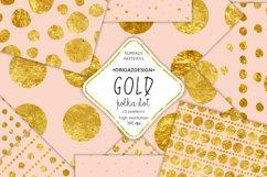 Gold foil Polka dot Blush Pink Seamless Pattern Product Image 1