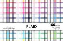 Colored plaid seamless digital paper Product Image 1