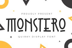 Monstero - Quirky Display Font Product Image 1
