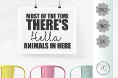 Hella Animals In Here SVG PNG JPG DXF Product Image 1
