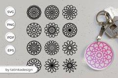 Keychain SVG, Keychain mandala, Key chain designs Product Image 1