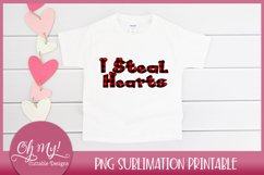 I Steal Hearts Valentine Sublimation Printable Design Product Image 2