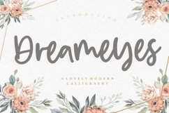 Dreameyes Lovely Modern Calligraphy Font Product Image 1