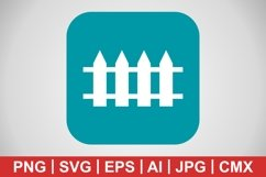 Vector Fence Icon Product Image 1