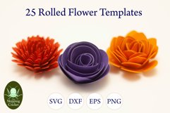 25 Rolled flowers svg, cutfiles, paper craft templates Product Image 7