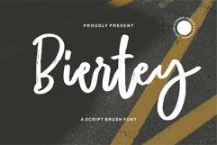 Web Font Biertey - A Script Brush Font Product Image 1