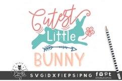 Cutest Little Bunny SVG | Easter Bunny SVG | Kids Easter SVG Product Image 2