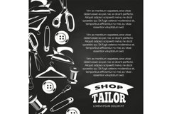Tailor shop chalkboard poster Product Image 1