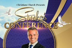 Speaker's Conference Church Flyer Product Image 3