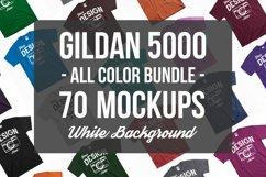 Unisex T Shirt Mockup Bundle With White Backdrop 70 Colors Product Image 1