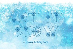 Let It Snow | A Winter Display Font Product Image 1