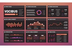 Presentation templates vector, infographic dashboards. Moder Product Image 1