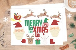 Merry Xmas CLIPART and FONT Product Image 1