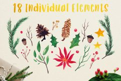 Very Merry Christmas Watercolor Clip Art Pack! Product Image 4